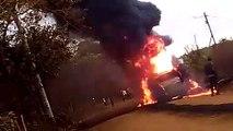 Heroic Driver Steers Burning Tanker Off Market to Save Lives