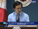 DFA assisting Filipinos charged with espionage in Qatar