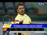 Wawrinka crushed, Djokovic through to second round