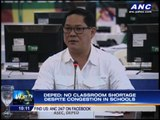 No more classroom shortage, DepEd claims