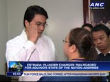Estrada: Plunder charges 'railroaded' for SONA