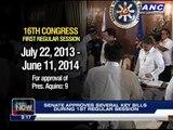 Senate approves several key bills amid pork scam