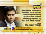 Jinggoy not surprised by hold departure order