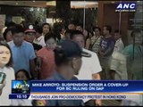 Detained Arroyo suspended from office
