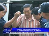Enrile undergoes eye check-up in Makati