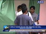 Enrile thanks PNP for 'good treatment'
