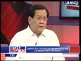 Enrile should be in Veterans, not Crame, says Serge