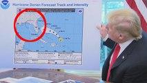 Trump présente une carte modifiée de l'ouragan Dorian