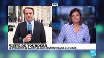 Le président de la République centrafricaine Touadera reçu à l'Élysée
