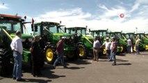 9 tonluk dev traktör tarım fuarının ilgi odağı oldu