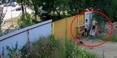 Este ingenioso robo de una carretilla por parte de dos niños arrasa en las redes