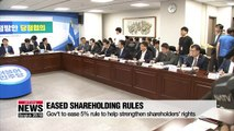 S. Korea to ease 5% disclosure rule to support shareholder activism