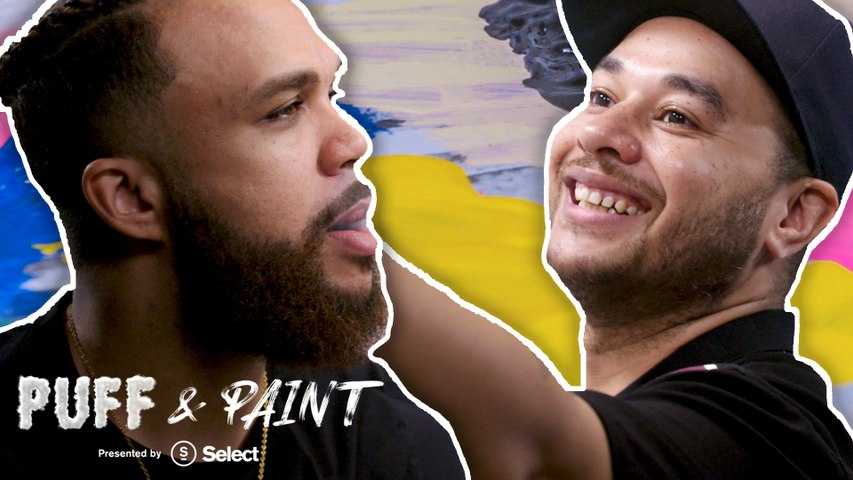 Jidenna and Shawn Crawford make high art in the first episode of 'Puff & Paint'
