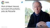 Le Français Albert Veissid, survivant d'Auschwitz, est décédé