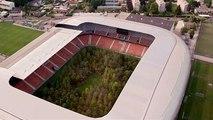 Insolite : une forêt dans un stade de foot