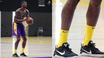 Dwight Howard Tries To Make NICE With Laker Fans, Wears Kobe's Sneakers During Practice