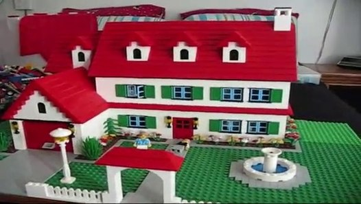 Three Bedroom Two Bath LEGO House Home CUSTOM MOC