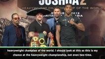 Joshua happy to fight in Saudi Arabia
