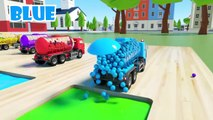 Kids Nursery - Trucks with Soccer Ball Tires A Fun Way to Learn New Colors