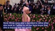 La star Nicki Minaj a surpris tous ses fans cette nuit en annonçant qu'elle mettait fin à sa carrière afin de se concentrer sur sa vie familiale