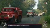 Incendies : de nombreux départs de feu en France