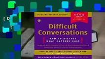 [Doc] Difficult Conversations: How to Discuss What Matters Most