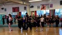 Les élèves de l'école de danse Jean-Luc Habel à l'entraînement