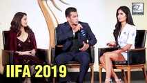 Salman Khan Flirts With Katrina In Front Of Madhuri   IIFA 2019