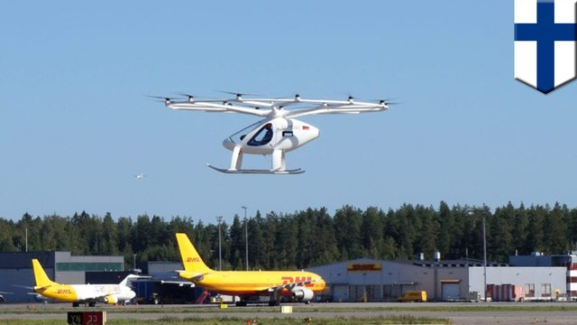 Flying taxi performs successful test flight at Helsinki Airport