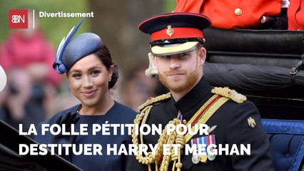 La folle pétition pour destituer Harry et Meghan