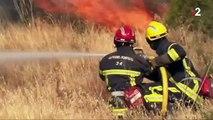 Incendie : des centaines de pompiers luttent contre les flammes