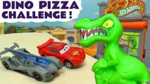 Hot Wheels Dinosaur Racing Challenge with Disney Pixar Cars 3 Lightning McQueen vs Toy Story 4 & Transformers Bumblebee Full Episode English