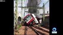 Déraillement impressionnant d'un train au Japon !