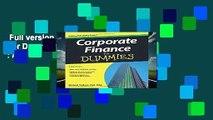 Full version  Corporate Finance For Dummies  Best Sellers Rank : #4