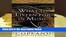 [FREE] What to Listen For in Music (Signet Classics)