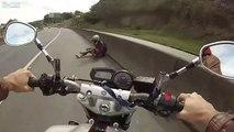 Un motard se fait éjecter de sa moto à 180kmh sur l'autoroute et s'en sort sans une égratignure