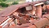Buttapietra (VR) - Fulmine distrugge il tetto di una casa (06.09.19)