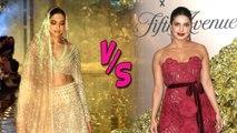 Deepika Padukone's New Bridal Look VS Priyanka Chopra Vanity Fair Party 2019