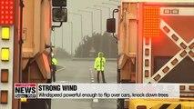 태풍 링링 한반도 강타... 강풍 피해 우려  Our top story today... Typhoon Lingling is passing by South Korea... after causing damage to the southern and western islands and coastal areas.  As typhoon warnings are in place for the most parts of the country,... emergency au
