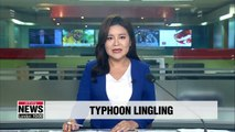 Typhoon Lingling hits Korean Peninsula