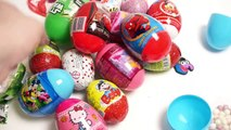 17 Super Surprise Eggs Unboxing  Angry Birds,Spiderman, Hello Kitty, Star Wars, Minnie Mouse, Cars