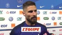 Giroud «Beaucoup d'enthousiasme» - Foot - Bleus