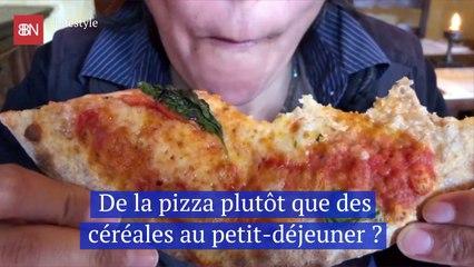 De la pizza plutôt que des céréales au petit-déjeuner