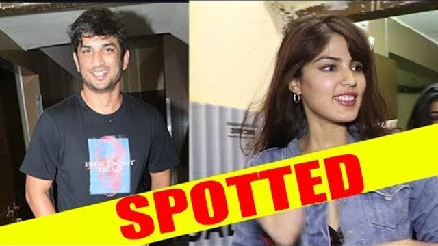 Sushant Singh Rajput and Rhea Chakraborty Spotted Juhu PVR