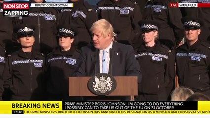Boris Johnson : Malgré le malaise d'une policière, il continue son discours (Vidéo)