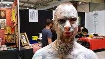 Freaky Hoody, l'homme le plus tatoué de France, à Vesoul