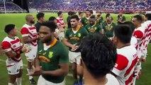 La superbe attitude plein de respect des Springboks envers le public japonnais