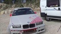 BMW 318 COMPACT  en glisse   N 1 -vive la glisse Jurassienne -39  - pilote Bontoux  Ludovic -vidéo lulu du jura _