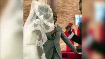 Ce marié découvre enfin à quoi ressemble sa femme et il a l'air très content