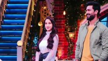 Nora Fatehi and Vicky Kaushal in kapil Sharma show